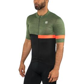 Sportful Giara Maillot de cyclisme Homme, dry green/black/orange sdr